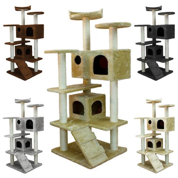 katzenkratzbaum kratzbaum katzenbaum kletterbaum f r katzen samira 130 cm ebay. Black Bedroom Furniture Sets. Home Design Ideas