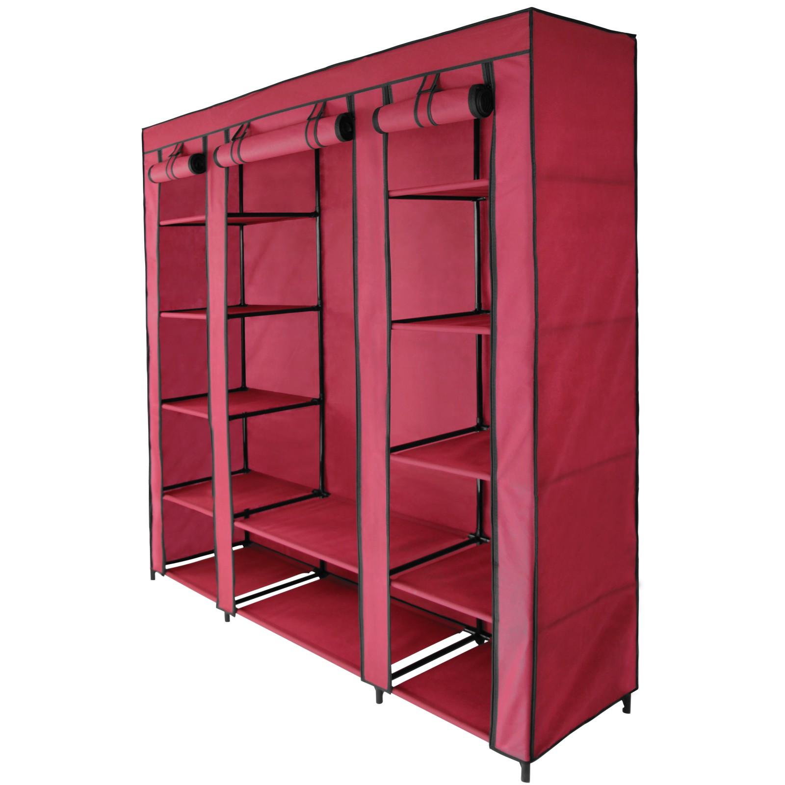 faltschrank stoffschrank maxi 150 x 45 x 175 cm kleiderschrank garderobe faltbar ebay. Black Bedroom Furniture Sets. Home Design Ideas
