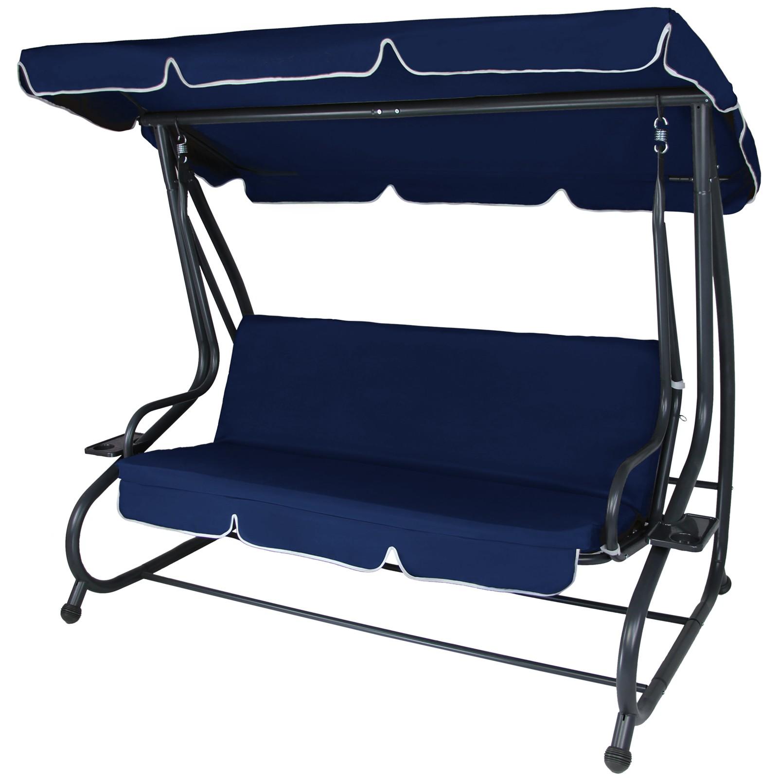 4 Seater Garden Hammock Swing Seat Convertible Bed Ravenna