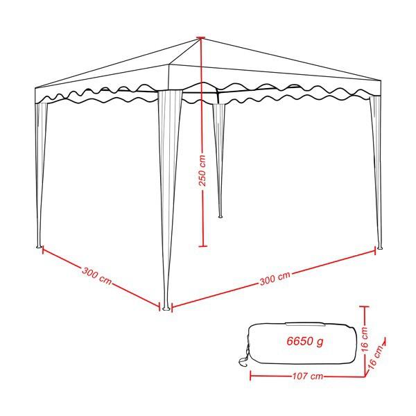 pavillon shelter zelt gartenzelt 3 x 3 m nahtversiegelt. Black Bedroom Furniture Sets. Home Design Ideas