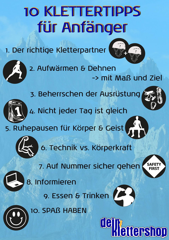 Infografik Klettertipps