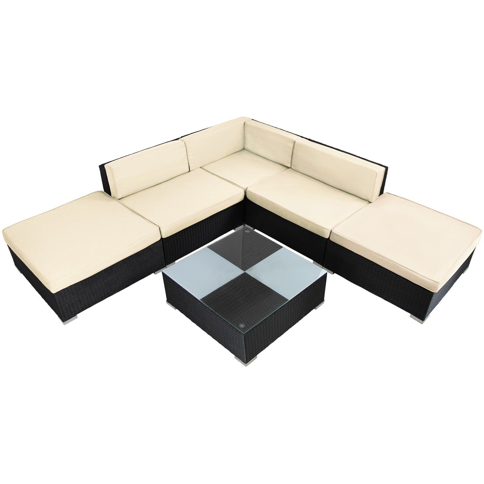 15 teilige polyrattan lounge gartengarnitur arizona mit. Black Bedroom Furniture Sets. Home Design Ideas