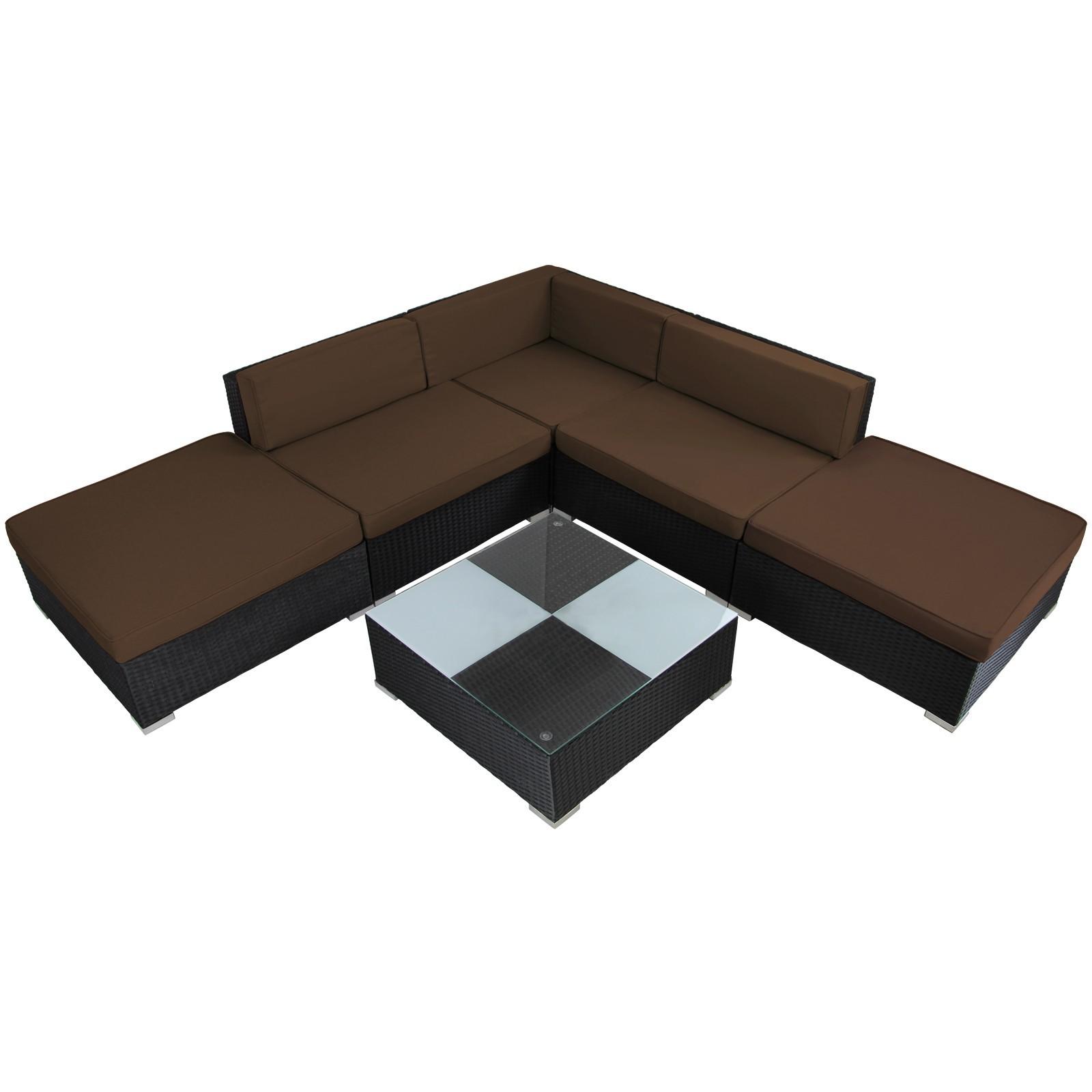 beliani rattan garden lounge - 2 seater sofa - 2 chairs - table ... - Gartenmobel Lounge Polyrattan