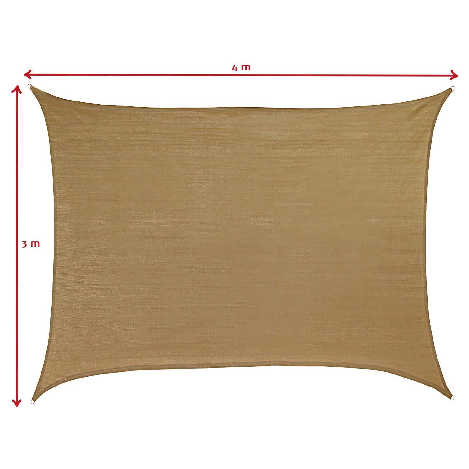 sonnensegel sonnenschutz shadow 3x4m sonnendach uv schutz garten terasse balkon ebay. Black Bedroom Furniture Sets. Home Design Ideas