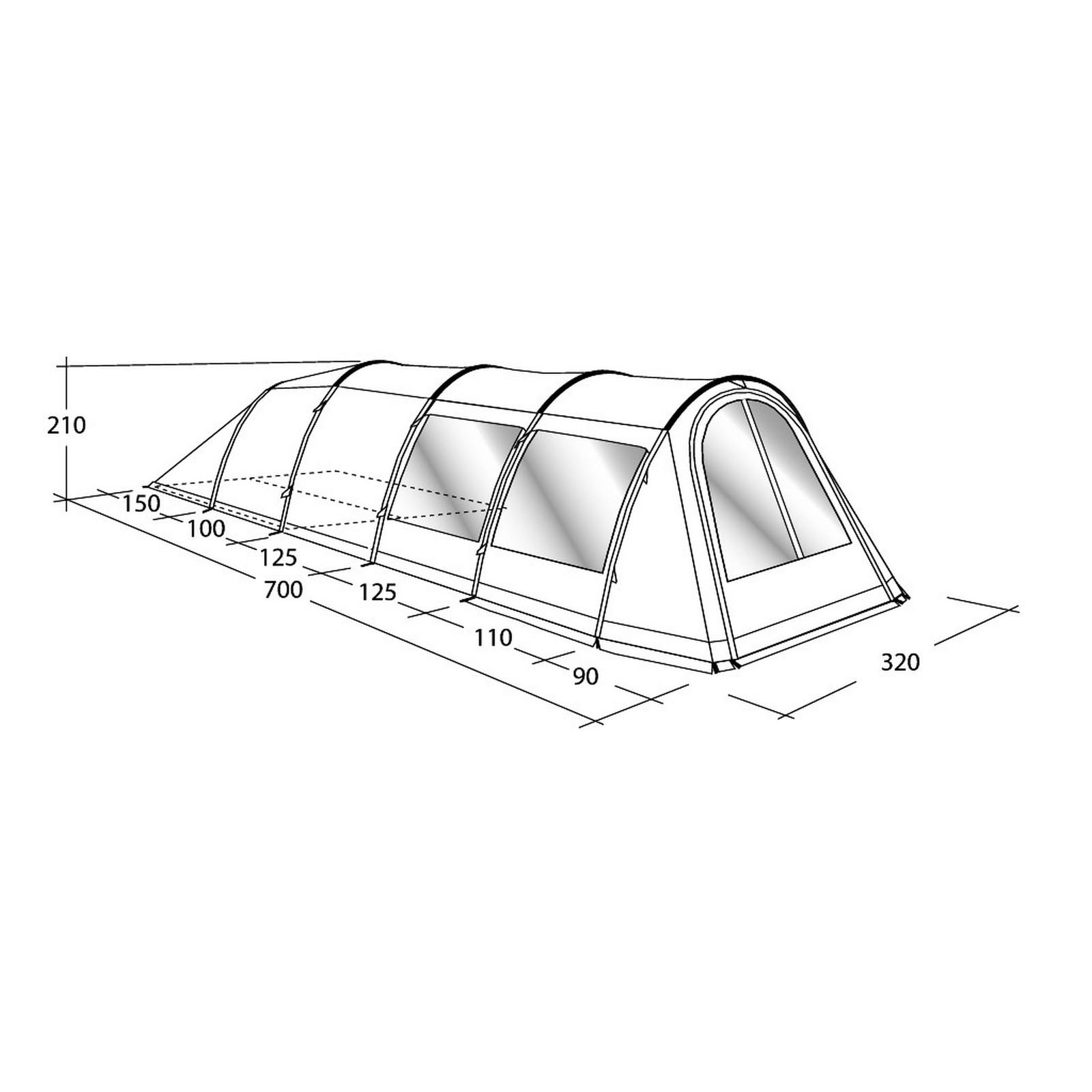 zelt phoenix 4 f r 4 personen von outwell familienzelt 3. Black Bedroom Furniture Sets. Home Design Ideas