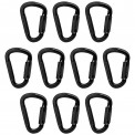 10 x Munter Hitch HMS Aluminium Carabiner Twist Lock Phoenix by Alpidex Karabiner