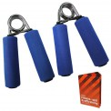 2 x Hand Grip Grippers DEXTEROUS in 2 different Intensities by BB Sport inclusive of Training Guide