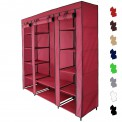 Canvas Fabric Wardrobe MAXI 150 x 45 x 175 cm with Hanging Rail and Zipper by BB Sport