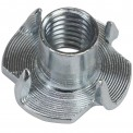 250 zinc-plated T-nuts M 10