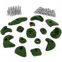 15 Climbing Holds in a Starter Set for Children, Screws and 30 T-Nuts included