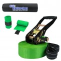 Slackline 15 m King (loadable up to 3 tons) + 2 x Tree Protection + Ratchet Protection by BB Sport