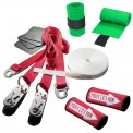 "Slackline 15 m Clip`n Slack Set SLACKLINE-TOOLS + 2 Sack-Ratchets CL + 2 x tree protection ""Super Safe"""