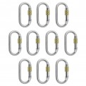 10 x Oval Steel Carabiner Lion by Alpidex