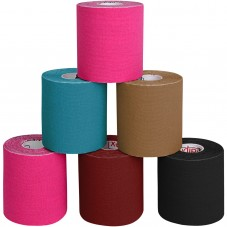 6 Rolls Kinesiology Tape 5 m x 7,5 cm in 5 different colours by BB Sport