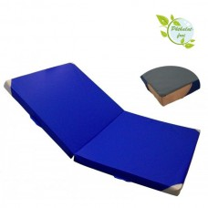Folding Mat 200 x 125 x 8 cm with Anti-Slip Base, Leather Corners and Carry Handles RG 80 (soft)