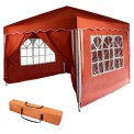 Gazebo PARADISE marquee foldable garden pavilion 3 m x 3 m without, with 2 or 4 side panels by BB Sport